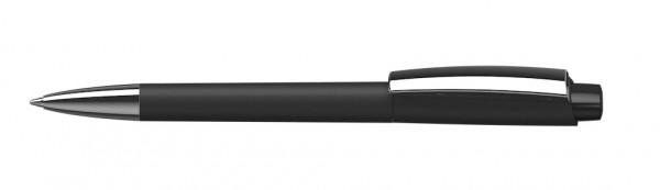 Kugelschreiber Zeno gloss Mmn softtouch schwarz/schwarz