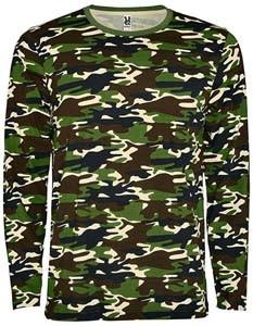 RY1034 T-Shirt Rundhals Langarm Camouflage