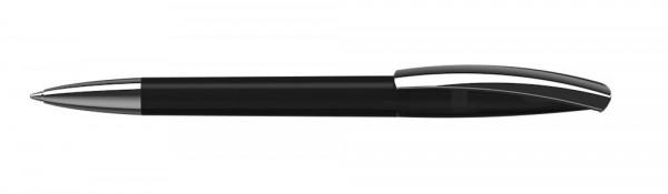 Drehkugelschreiber Arca transparent Mmn schwarz transparent
