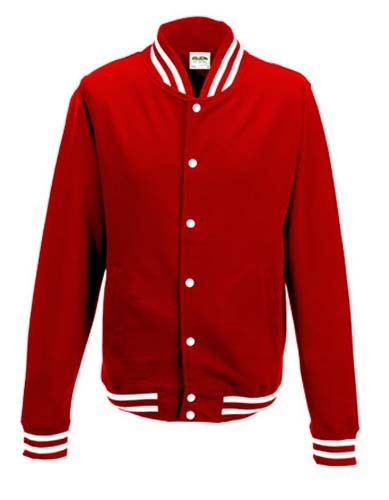 JH041 College Jacket_Fire-Red