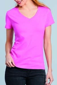 G4100VL T-Shirt Premium Damen Kurzarm V-Ausschnitt