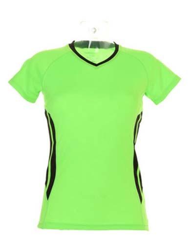 K940 Damen Sport Shirt-Kurzarm-V-Ausschnitt