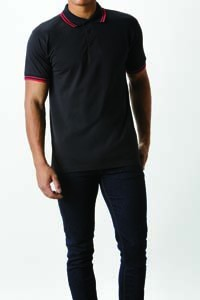 L-K409 Classic Fit Tipped Collar Polo