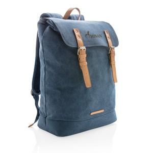 Canvas Laptop-Rucksack, blau