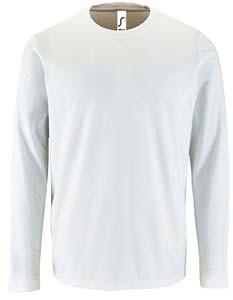 L02074 T-Shirt Männer Rundhals Langarm