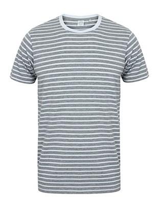 Unisex Striped THeather-Grey_White