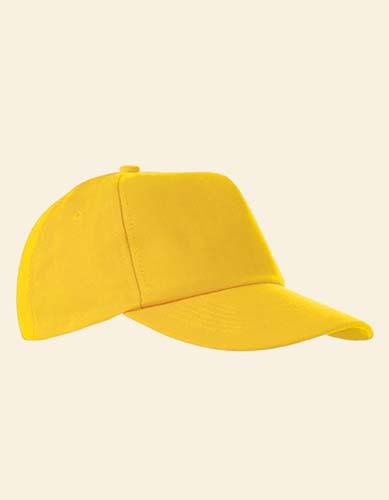 5-Panel Baumwollcap brushed_Yellow