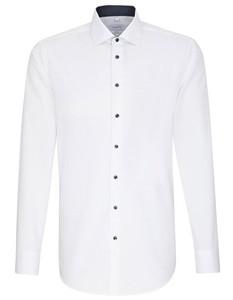 Herrenhemd Popeline Langarm White
