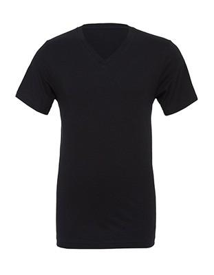 Sleeve V-Neck Tee Black