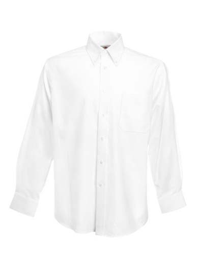 Men`s Long Sleeve Oxford Shirt_White