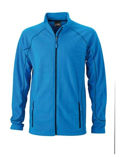 JN597 Men`s Structure Fleece Jacket__Aqua_Navy
