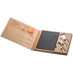 Mac-80190 Käseset mit Schieferplatte