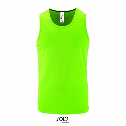 L02073 Sport Shirt Rundhals Ärmellos