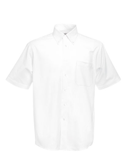 Men`s Short Sleeve Oxford Shirt_White
