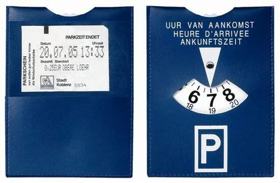 """169-00 CreativDesign Parkscheibe """"Duo"""", blau"""