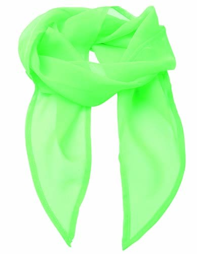 Women`s Colours Collection Chiffon Scarf_Apple