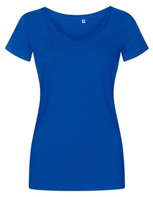 Women´s V-Neck T-Shirt Azur-Blue.