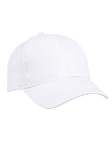 6 Panel Cap Heavy Cotton_White