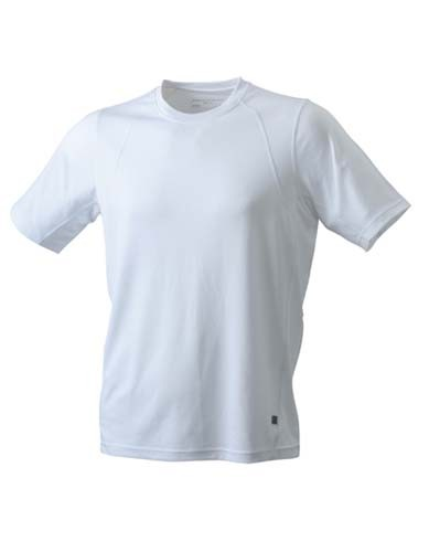 JN306 Men`s Running-T_White_White