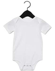 Baby Jersey Short Sleeve Onesie_White