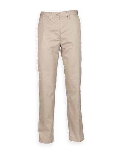 Ladies` 65/35 Poly/Cotton Chino_Stone