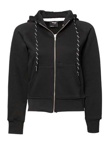 TJ5436N Ladies` Fashion Full Zip Hood_Black