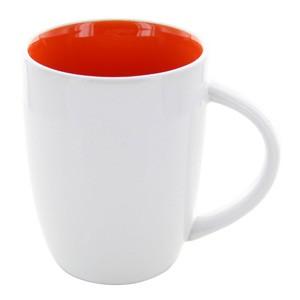 Tasse Elektra weiß-orange