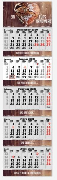 FOLD-5| flatbarer 5-Monats-Kalender | deutsch-mehrsprachig
